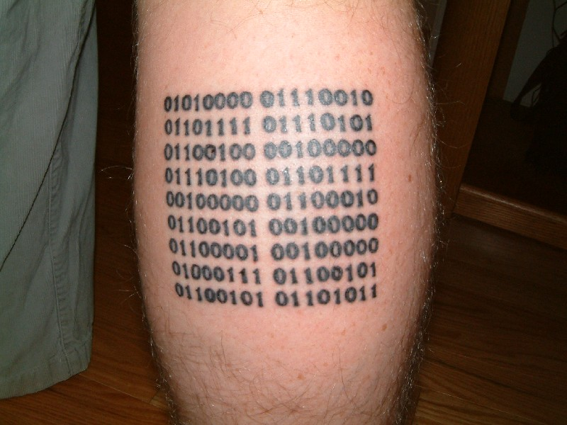 Binary Tattoo Generator Photograph Binary Tattoo